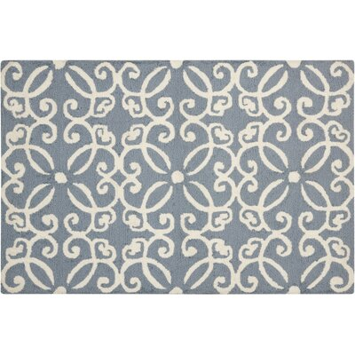 Northampton Hand-Woven Blue/Ivory Area Rug Rug Size: 26 x 310