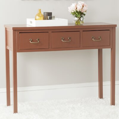 Robinwood Console Table Color: Terracotta