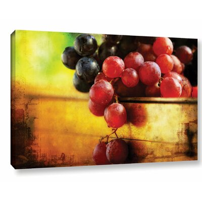 Autumn Grapes Photographic Print on Wrapped Canvas