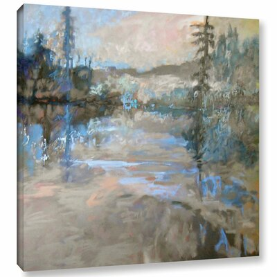 Rive Painting Print on Wrapped Canvas