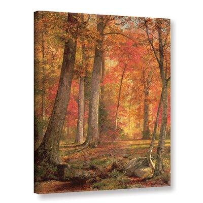 Path in the Forest Photographic Print on Wrapped Canvas