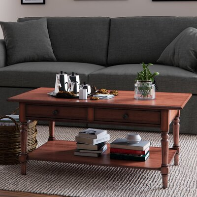 Hugh Coffee Table Color: Red