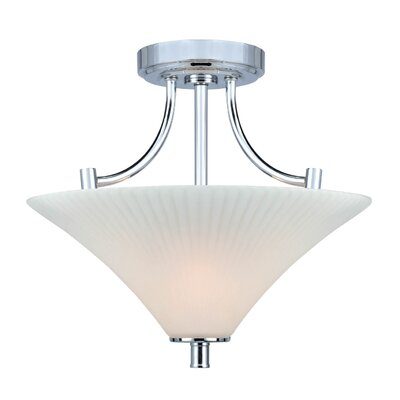 Gervais 2-Light Semi-Flush Mount