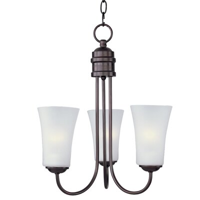 Garfield 3-Light Shaded Chandelier Finish: Oil Rubbed Bronze