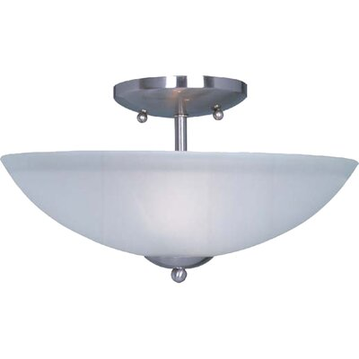 Garfield 2-Light Semi-Flush Mount Finish: Satin Nickel