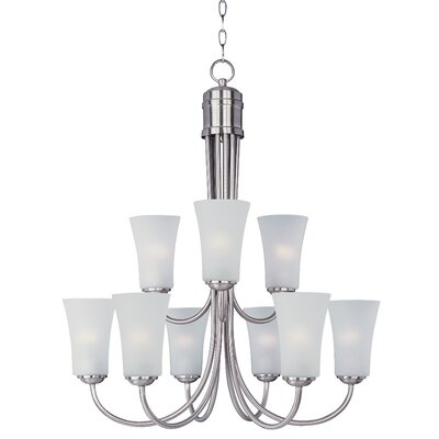 Garfield 9-Light Shaded Chandelier Finish: Satin Nickel