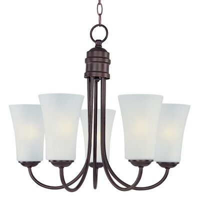 Garfield 5-Light Shaded Chandelier Finish: Satin Nickel