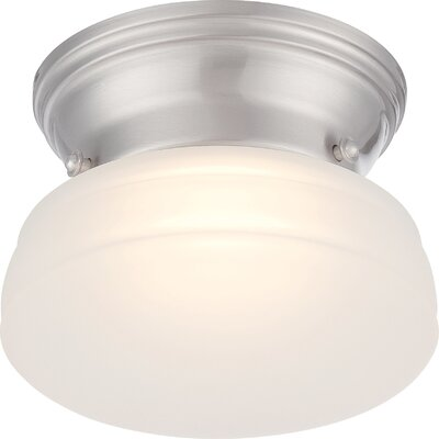 Rutgers 1-Light Flush Mount Finish: Brushed Nickel