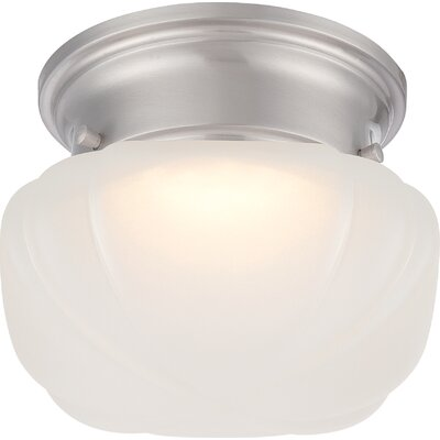 Rutgers 1-Light Flush Mount Finish: Aged Bronze