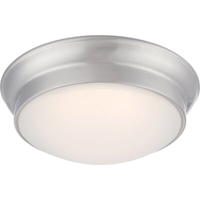 Erwin 1-Light Flush Mount Finish: Brushed Nickel