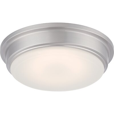Firenze 1-Light Flush Mount Finish: Brushed Nickel