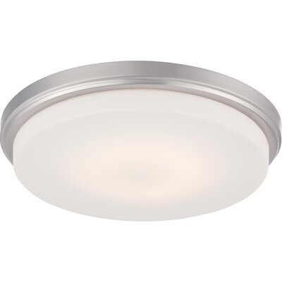 Eulah 1-Light Flush Mount Finish: Brushed Nickel