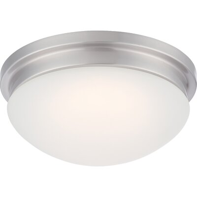 Gladiola 1-Light Flush Mount Finish: Brushed Nickel