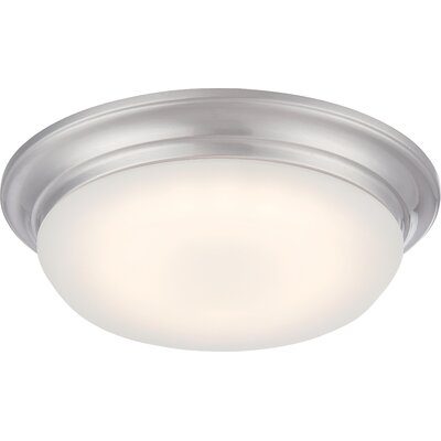 Fiske 1-Light Flush Mount Finish: Brushed Nickel