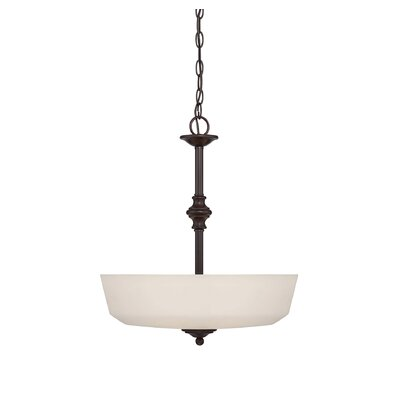 Genevieve 3-Light Bowled Pendant Finish: English Bronze
