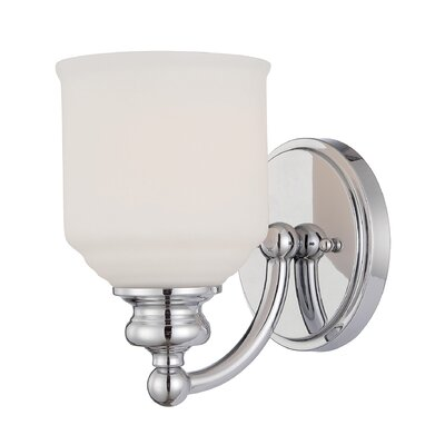 Genevieve 1-Light Wall Sconce Base Finish: Polished Chrome