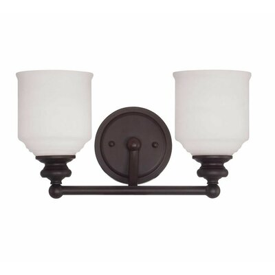 Genevieve 2-Light Vanity Light Finish: English Bronze