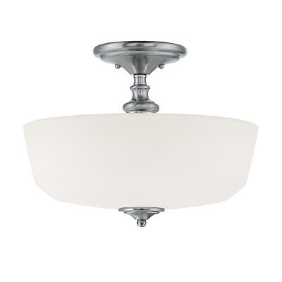 Genevieve 2-Light Semi-Flush Mount Finish: Polished Chrome