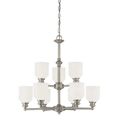 Genevieve 9-Light Shaded Chandelier