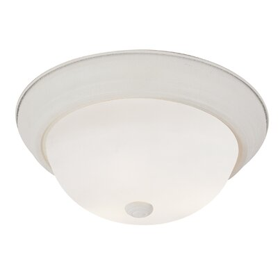 Elwin 1-Light Flush Mount Finish: Brushed Nickel, Size: 6 H x 15 W x 15 D