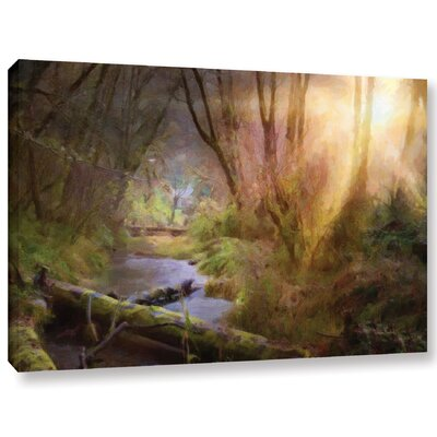 Light Burst Painting Print on Wrapped Canvas