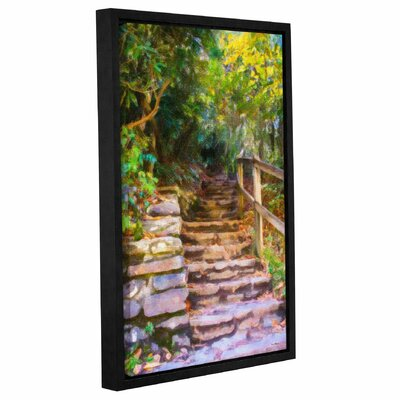 Rocky Steps Framed Painting Print on Wrapped Canvas