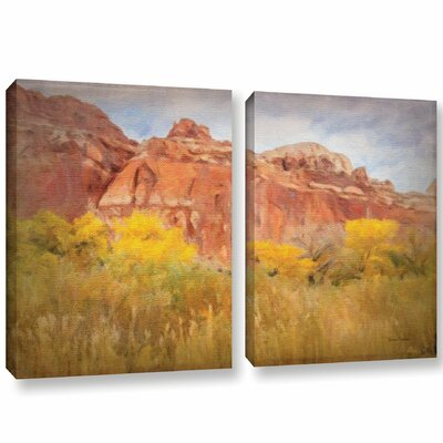 Southwest Splendor 2 Piece Painting Print on Wrapped Canvas Set Size: 18