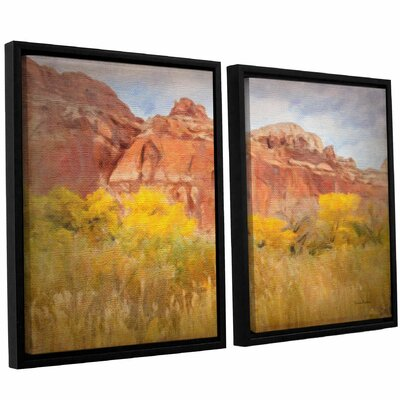 Southwest Splendor 2 Piece Framed Painting Print on Canvas Set Size: 24