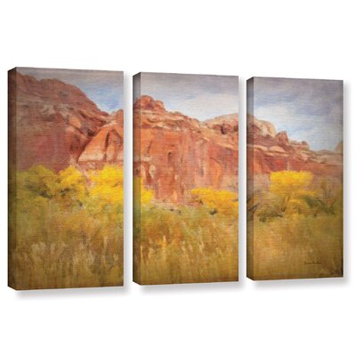 Southwest Splendor 3 Piece Painting Print on Wrapped Canvas Set Size: 24