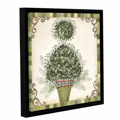 Topiary 1 Framed Painting Print on Wrapped Canvas