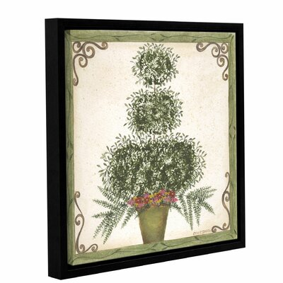 Topiary 3 Framed Painting Print on Wrapped Canvas