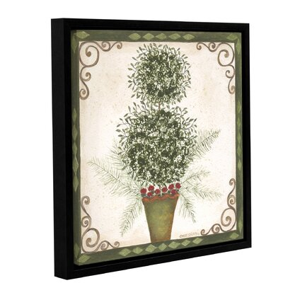 Topiary 4 Framed Painting Print on Wrapped Canvas