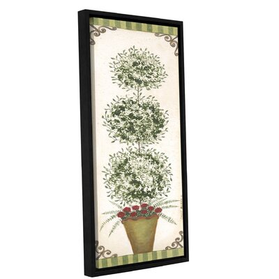 Topiary 5 Framed Painting Print on Wrapped Canvas