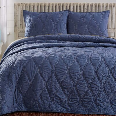 Reese Quilt Color: Navy, Size: California King
