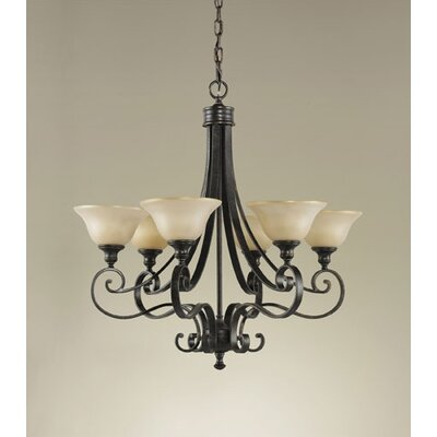 Farley 6-Light Shaded Chandelier