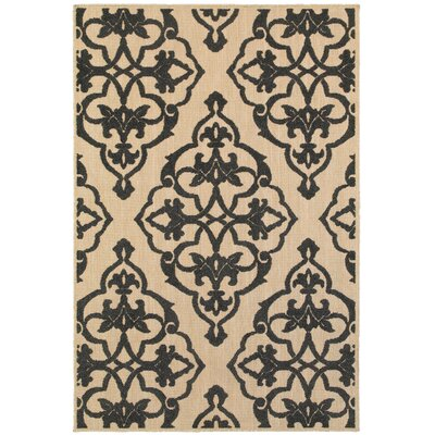 Winchcombe Sand/Charcoal Outdoor Area Rug Rug Size: Rectangle 910 x 1210