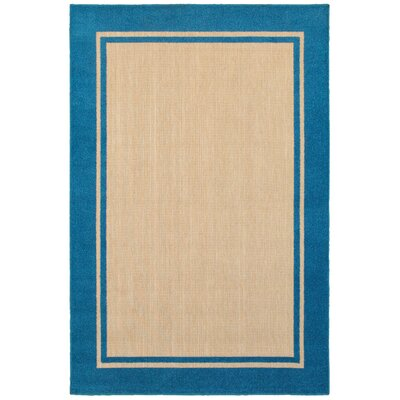 Charlton Home Winchcombe Sand/Blue Outdoor Area Rug