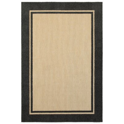 Winchcombe Sand/Charcoal Outdoor Area Rug Rug Size: Rectangle 53 x 76