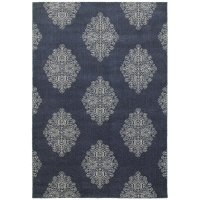 Darren Blue/Ivory Area Rug Rug Size: Rectangle 53 x 76