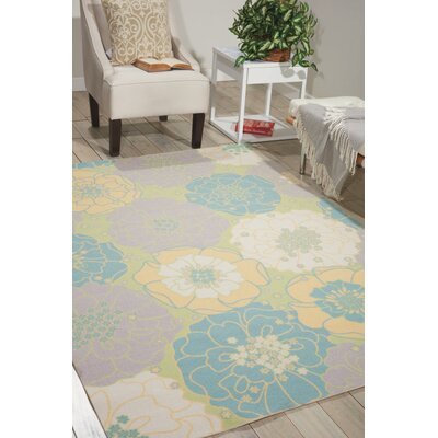 Wright Teal Blue/Yellow Indoor/Outdoor Area Rug Rug Size: Square79 x 79