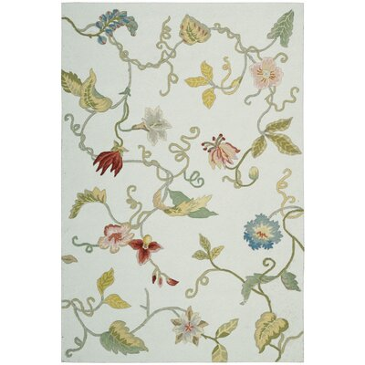 York Hand-Hooked Fern Area Rug Rug Size: Rectangle 36 x 56
