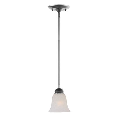 Powell 1-Light Mini Pendant Shade Color: Ice, Finish: Satin Nickel