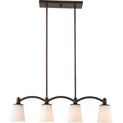 Smithville 4-Light Kitchen Island Pendant Base Finish: Brushed  Nickel