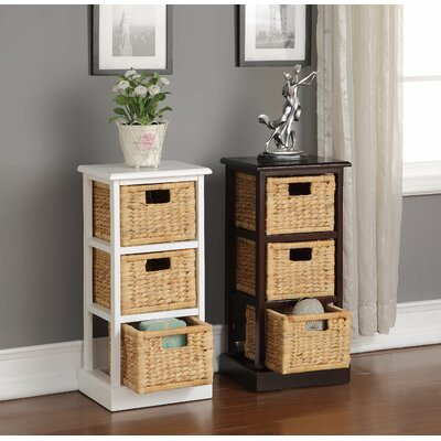 Carter 3 Basket Storage Chest Finish: White