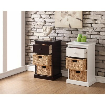 Carter 1 Drawer 2 Basket Storage Chest Finish: White