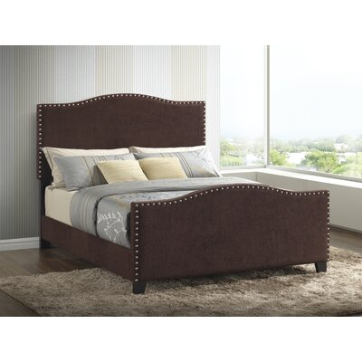 Farragut Upholstered Panel Bed Size: Twin, Color: Brown