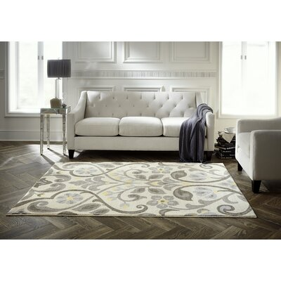 Westwood Scroll Neutral Area Rug Rug Size: 5 x 7