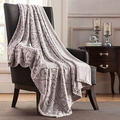 Yonkers Scroll Throw Blanket Color: Ivory