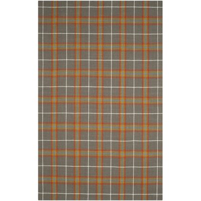 Briarton Hand-Woven Orange/Gray Area Rug Rug Size: 4 x 6