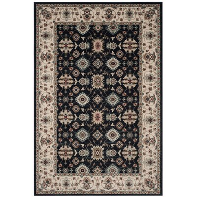 Bridgeport Navy/Creme Area Rug Rug Size: Rectangle 6 x 9